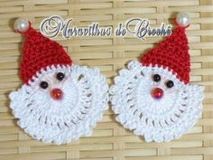 DIY Santa Crochet Step by Step Instructions Crochet Leaf Patterns, Crochet Leaves, Christmas Crochet Patterns, Holiday Crochet, Christmas Knitting, Crochet Flowers, Crochet Santa, Diy Crochet, Handmade Crafts