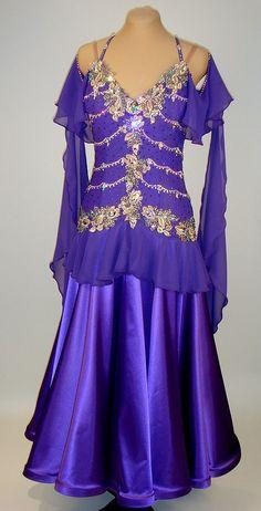 Violet dance crepe and satin skirt