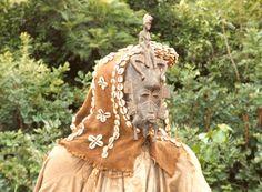 Máscara utilizada en rito de iniciación Senufo, en Costa de Marfil