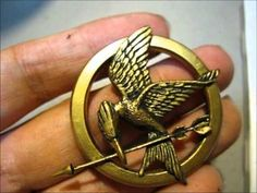 GIVEAWAY CONTEST Mockingjay Pin Custom Handmade Polymer Clay ***CLOSED 4/30/2012*** - http://videos.silverjewelry.be/pins/giveaway-contest-mockingjay-pin-custom-handmade-polymer-clay-closed-4302012/