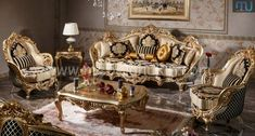 Sofa Mewah Ukir Luxury Home Furniture, Classic Furniture, Cool Furniture, Bedroom Furniture, Baroque Design, Antique Sofa, Luxury Sofa, Luxury Interior Design, Victorian Fashion