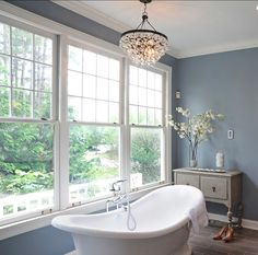 Favorite Coastal Blue Paint Colors for Your Home Benjamin Moore Waters EdgeBenjamin Moore Waters Edge Blue Paint Colors, Bathroom Paint Colors, Interior Paint Colors, Paint Colors For Home, Neutral Colors, Trendy Colors, Coastal Paint Colors, Luxury Interior Design, Bathroom Interior Design