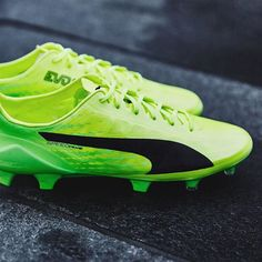 "If @usainbolt's football career really was on the cards... @pumafootball launch new evoSPEED 17.SL in ""Safety Yellow/Green Gecko"". #soccerbible #puma #evospeed"