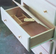False-bottom drawer because we all know how paranoid Cameron is.
