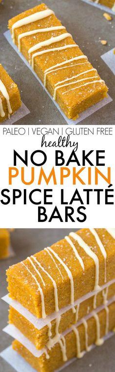 Healthy No Bake Pumpkin Spice Latte Bars