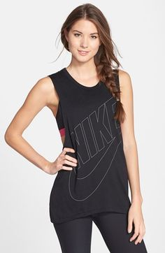Free shipping and returns on Nike 'Signal' Muscle Tank at Nordstrom.com. A slim-lined version of Nike's bold, blown-up logo fronts a cool muscle tank with deep armholes that provide a peek of your workout layers.