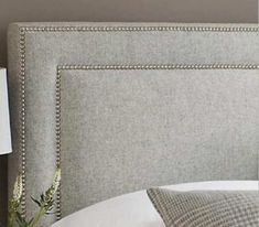 Square with nailhead border also pretty. Headboard Designs, Master Room, Headboards For Beds, Luxurious Bedrooms, Bed Design, Shabby Chic Furniture, Upholstery, Bedroom Decor, Decoration