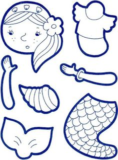 Coloring Mermaid articulated paper doll
