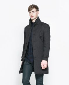 Image 3 of COAT WITH KNITTED COLLAR from Zara