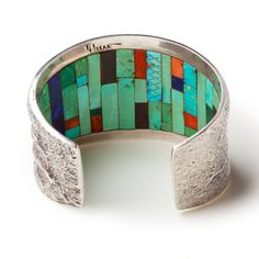 Charles Loloma, Tufa Cast Cuff with Inlay, circa 1970 | 1stdibs.com