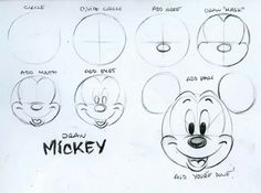 Mickey mouse drawing tutorial
