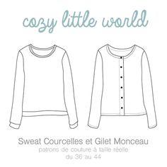 Cozy Little World - Gilet Monceau / Sweat Courcelles