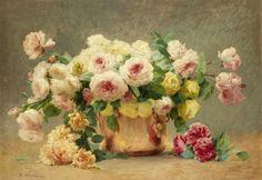 Still Life of Roses (Emile Vernon - )