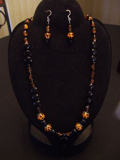 Animal print, necklace, earrings $38.00   SOLD