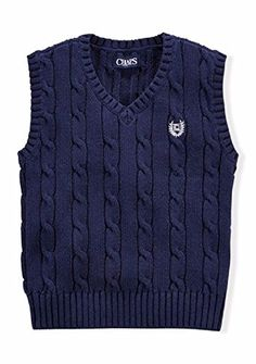 Chaps Little Boys Cable Knit Sweater Vest ** Additional details @