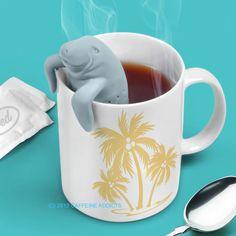 MANATEA TEA INFUSER - CUTE FLORIDA MANATEE LOOSE LEAF SILICONE MUG CUP STRAINER