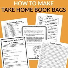 Give families the resources they need to read with their kids each week with easy to prep step by step take home book bag program. Book buddy sheets, management sheets, and a book list are all included. Some of the forms are even editable. Reading Homework, Reading At Home, Teaching Reading, Guided Reading, Literacy Bags, Early Literacy, Literacy Activities, Math Games, Book Bags Classroom