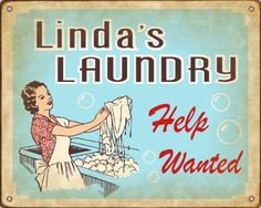vintage laundry signs - Bing Images
