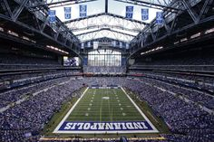 Indianapolis Lucas Oil Stadium has been the home field of the Indianapolis Colts since 2008. Located in downtown Indianapolis, the HKS-designed venue was completed in 2008.