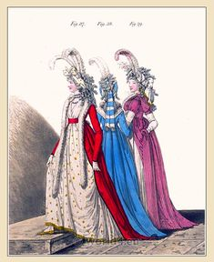 Heideloff's Gallery of Fashion Vol. 1,. April 1794 to March 1795.