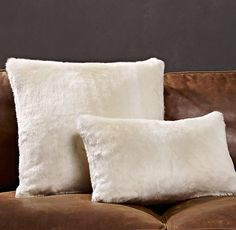 Luxe Faux Fur Pillow Covers - Arctic Fox 24-39 currently on sale, lots of sizes, + price of pillow insert 10-32