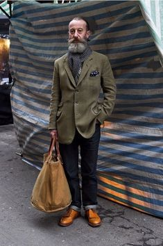 This gentleman has more style than many of the youth. Simply love it