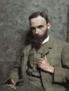 English painter John William Waterhouse, 1890s.