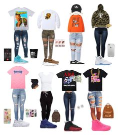 Back To School Outfits Black Girl Swag Outfits For Girls, Cute Lazy Outfits, Teenage Girl Outfits, Cute Outfits For School, Tomboy Outfits, Cute Casual Outfits, Teen Fashion Outfits, Girly Outfits, Dope Outfits