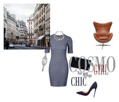 """""""business"""" by vay-brown on Polyvore featuring Christian Louboutin, Prada and GUESS"""