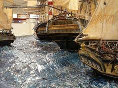 Diorama Barcos Santisima Trinidad Batalla Trafalgar 9