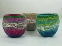 Mini Finnish Felt Bowls | by Natasha Smart Textiles