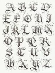 Bildergebnis für tattoo fonts