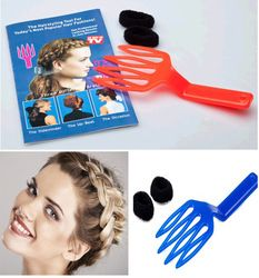 The contour creation package includes both brushes keep me 2pcs magic hair weave braiding tool hair braider weaving supplies pmusecretfo Image collections