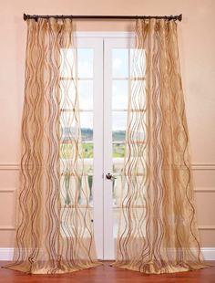 Alegra Gold Embroidered Sheer Curtain - SKU: SHCH-EMB20136 at https://halfpricedrapes.com