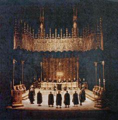 """"""" Die Meistersinger von Nürnberg """" 1.Akt 1956 Wieland Wagner Bühnenphoto"""