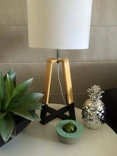Painted the bottom of this lamp instead of all wood Kmart Home, Tripod Lamp, Fashion Room, Boy Room, Home Furniture, Interior Decorating, New Homes, Table Lamp, Lights