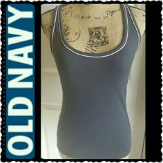 Old Navy Tank Top Old Navy Racerback Style Tank Top in Nylon Spandex Material, Worn but in Good Condition Old Navy Tops Tank Tops
