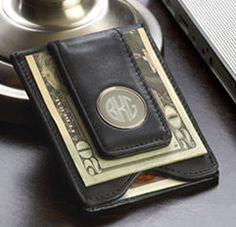 Monogram Leather Money Clip @studioNotes