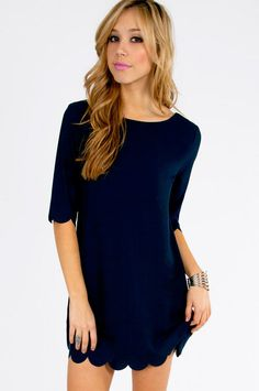 Ever So Scalloply Dress.  Sign up today to discover Trendy Dresses! Huge selection with new styles added each and every day! At Tobi.com you'll find something special every day of the week! 50% off on the first order!