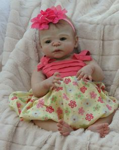 complete full bodied baby girl Doll by cherished reborn nursery no reserve !!!!