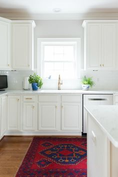 White and Gold Kitchen from Laura Trevey || Dimples and Tangles