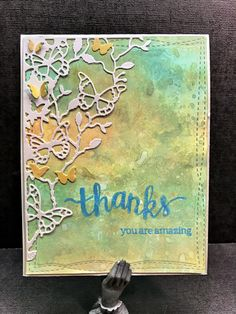 Distress Oxide inked card by Apearl B.
