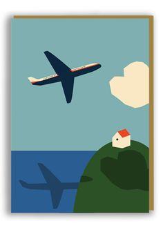 Anna Kövecses Plane Greetings Card