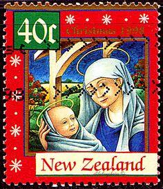 New Zealand.  MADONNA & CHILD.  Scott 1532 A440, Issued 1998 Sept 2, Litho., Perf. 13 x 14,  .400. /ldb.