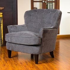 You'll love the Greene Tufted Upholstered Linen Club Chair at Wayfair - Great Deals on all Furniture  products with Free Shipping on most stuff, even the big stuff.