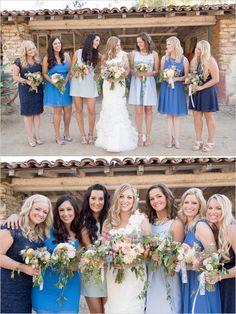blue bridesmaids dresses #bridalparty #bluebridesmaidsdresses #weddingchicks http://bit.ly/1hIzW7C