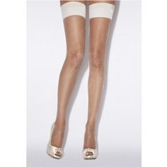 ffadde26539 Wedding Hosiery ~ Bridal Smooth Top Hold Ups By Charnos ~ Ivory Or Champagne