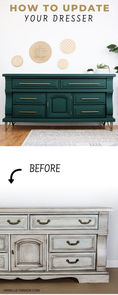 Dresser Makeover Diy Chalk Paint New Simple Diy Furniture Makeover And Transformation Diyhomedecor Furnitureideas Cheap Furniture Makeover, Diy Furniture Renovation, Diy Dresser Makeover, Diy Furniture Projects, Refurbished Furniture, Upcycled Furniture, Cool Furniture, Painted Furniture, Dresser Furniture