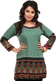 Indian Tunics / Kurti Top Blouse Womens Printed India Apparel (Green, XXL) Maple Clothing http://www.amazon.com/dp/B00A09D0VW/ref=cm_sw_r_pi_dp_i16Jtb1JASAX0BMZ
