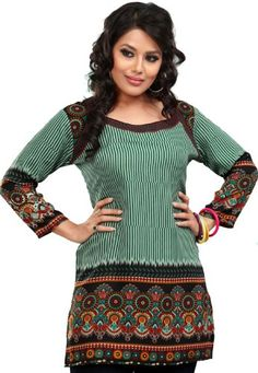 Indian Tunics / Kurti Top Blouse Womens Printed India Apparel (Green, XXL) Maple Clothing http://www.amazon.com/dp/B00A09D0VW/ref=cm_sw_r_pi_dp_i16Jtb1JASAX0BMZ